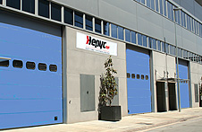 Front view of Hepyc's factory in Badalona.