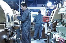 Detail of operators working in Hepyc's factory in Badalona.
